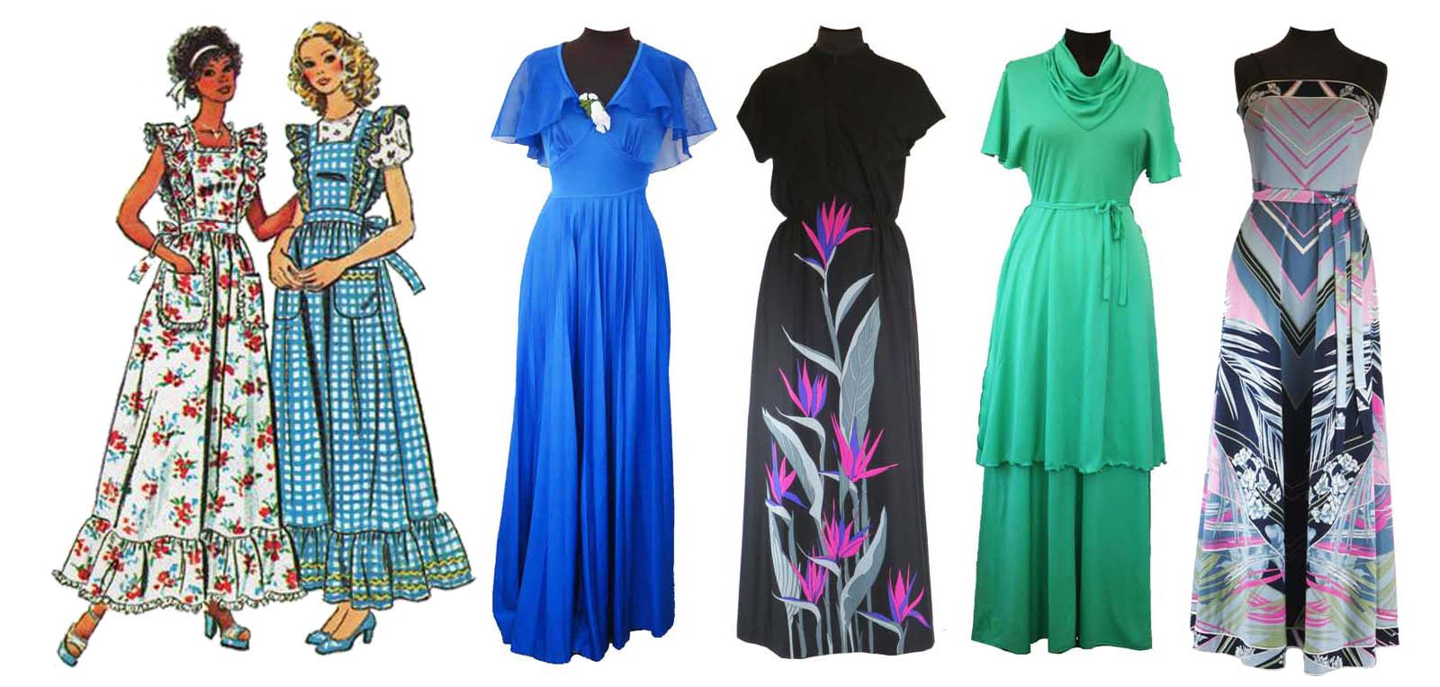 Maxi-vestido vintage