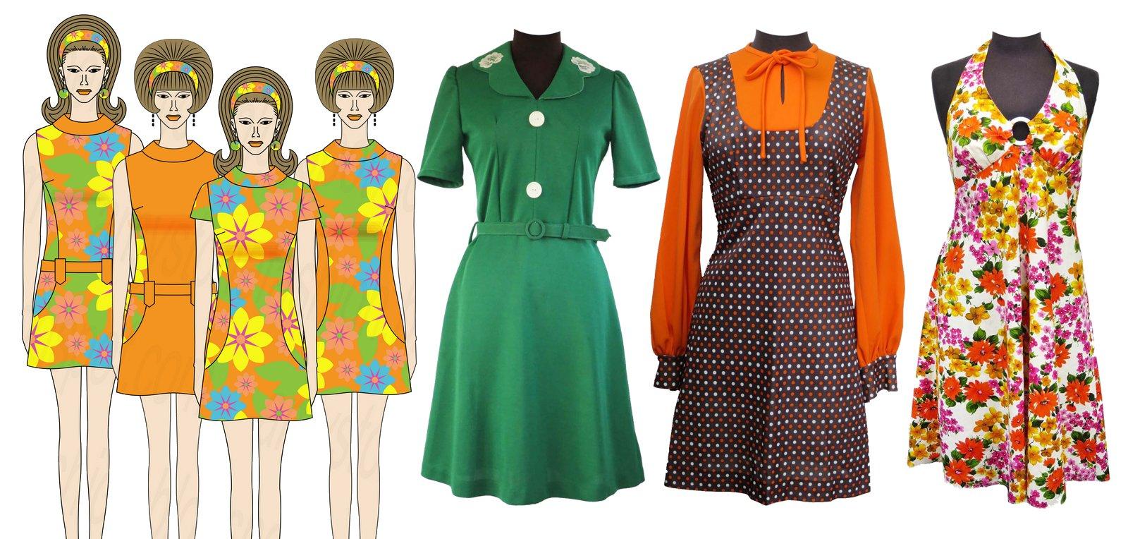 Mini Vestido vintage