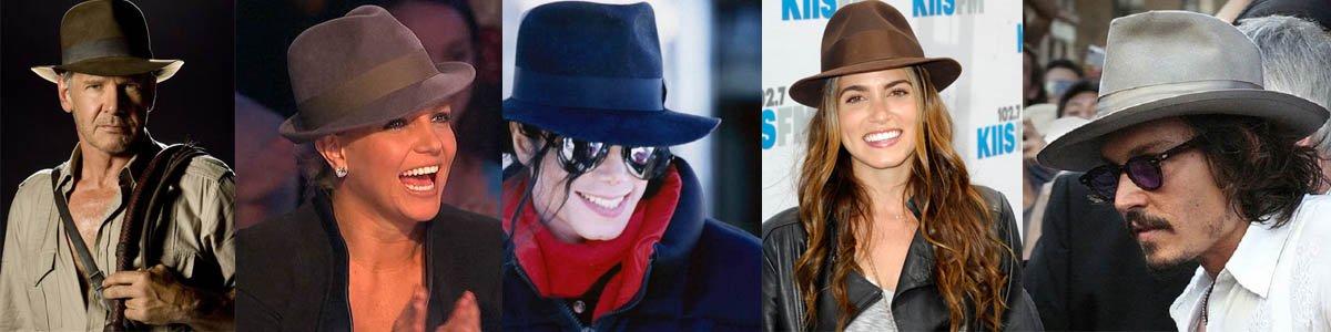 famosos con sombrero fedora