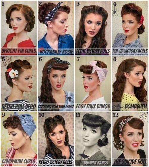 peinados para un look de los años 50