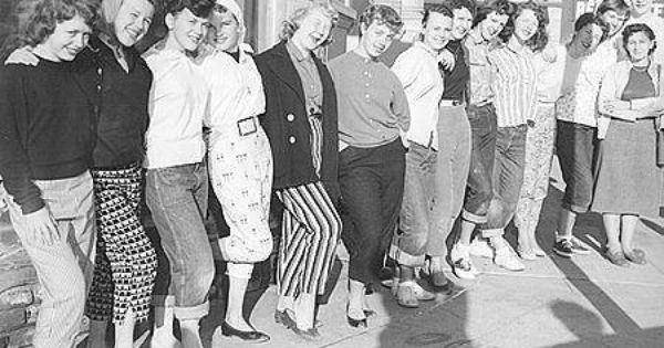 girls in pants-1950s