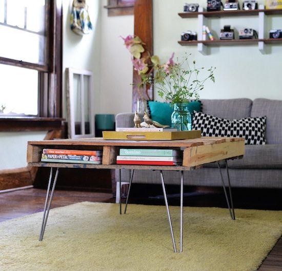 Cómo hacer una Mesa de Café vintage con Palés