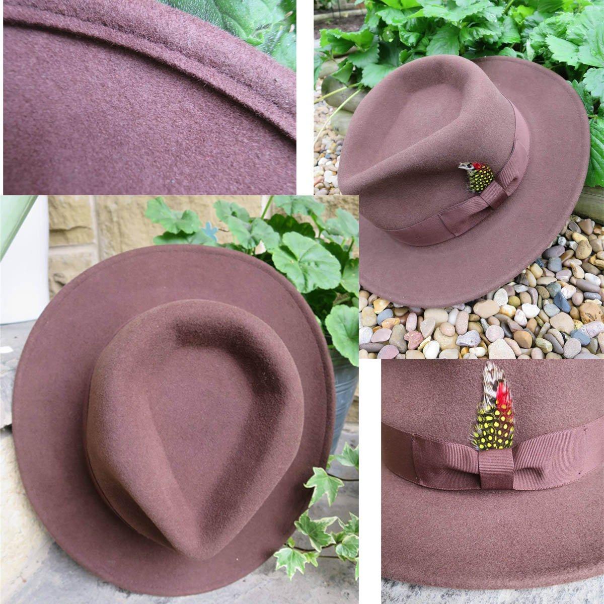 sombrero fedora de borde doblado