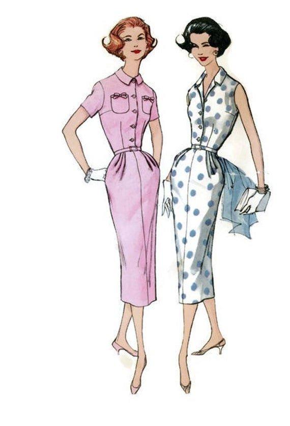 """Vestido tipo """"vaina"""" vintage"""