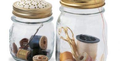 Cómo hacer un Kit de costura reciclando un tarro de cristal antiguo