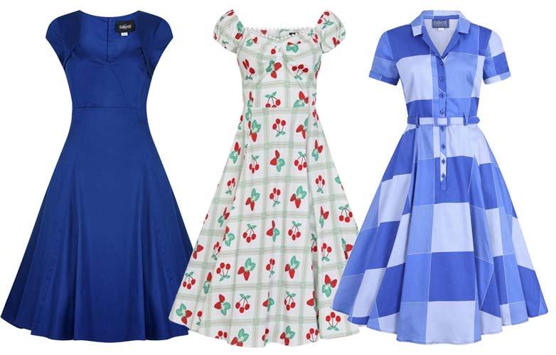 vestidos de inspiración de los años 50